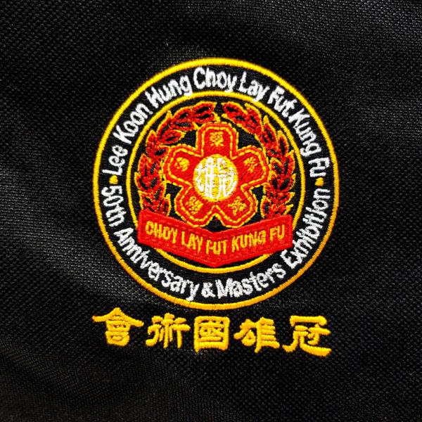 Loo Koon Hung Choy Lay Fut Kung Fu Bag Close Up Logo